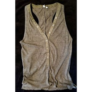 Out From Under Ribbed Henley Tank